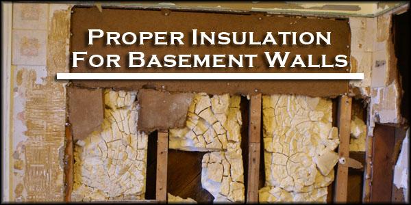 best insulation types for basement walls spray foam