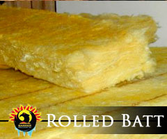 Rolled Batt Attic Insulation