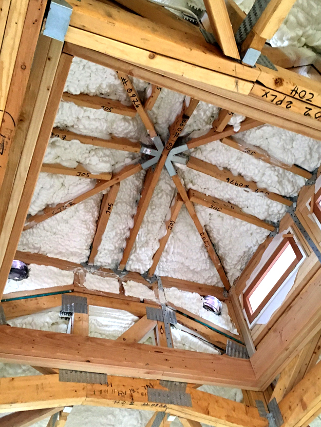Cupola Spray Foam Insulation Installation