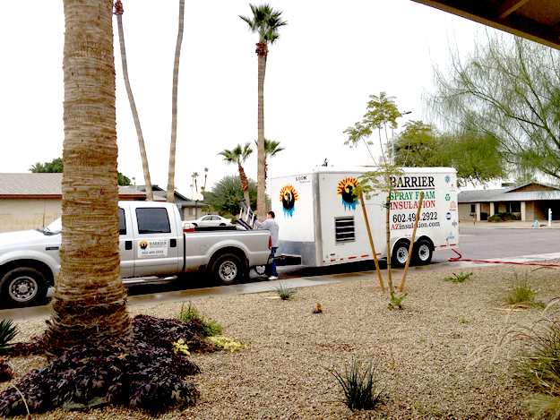 Spray Foam Insulation Phoenix Truck